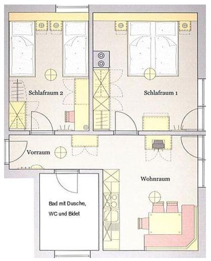 appartamenti per le vacanze ad anterselva ? steinzgerhof - Piantina Camera Da Letto
